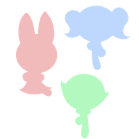 Powerpuff Girls Colored Silhouette by BloomBrick101