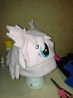 Fluffle Puff hat side view by Poniusprime