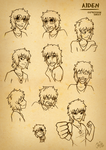 Aiden Expression Sheet by AbnormallyNice