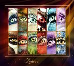 2013 Zodiac eyes calendar by ftourini