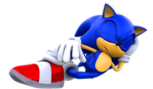 Sonic is asleep by ModernLixes