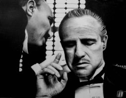 Marlon Brando - The Godfather by Rick-Kills-Pencils