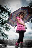 Little Girl on a Cloudy Day by 7whitefire7