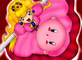 Cute Peach n' Kirby by SigurdHosenfeld