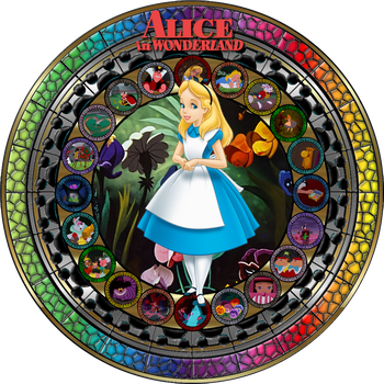 Masterpiece Alice in Wonderland Stained Glass by Maleficent84