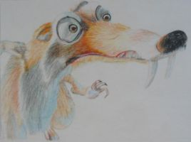 Scrat from Ice Age by olgi