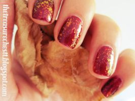 Easiest Autumn Nails by IoanaZ