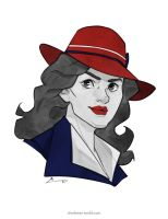 Sketch - Agent Carter by charlestanart