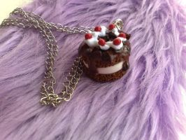Black Forest Necklace No3 by PinkCakes