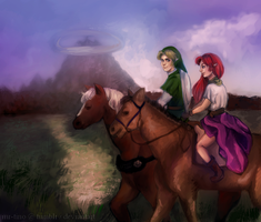 . Malon x Link [ Day 4 - On a Date ] by mr-tino