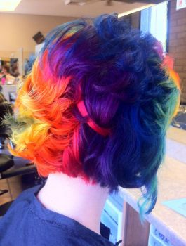 Colorful hair by lane-nee-chan