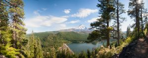 Mount Hood Reservoir by Bawwomick