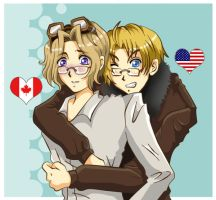 Hetalia: Canada and America by Laurama