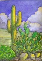 Desert Cactus by deviantmike423