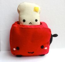 Toaster and Toast Plush by PinkChocolate14
