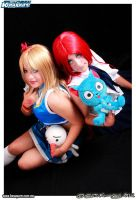Erza Escarlet and Lucy by FanychanCosplay