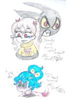 Upsaet Annie and Shade worried Lana B Ghost by Kittychan2005