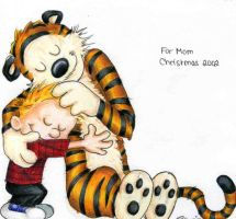 Calvin and Hobbes by heatherbunny