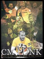 Cm Punk Poster 2.0 by findmyart