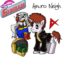My Little Gundam: Amuro Neigh by Blayaden