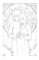 Commission-WIP-Minato Kushina by Nesskain