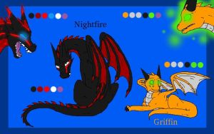 Night and Grif -- Double Ref by Warrioratheart