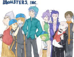 Disney Pixar's Monsters Inc.!! by LeFantomeDancer