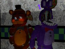 Withered Freddy x Withered Bonnie by TailsFan789