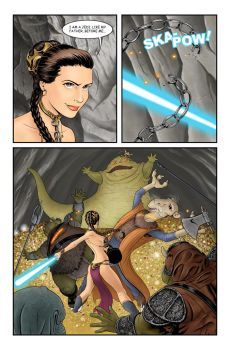 Leia VS Jabba by Buzz-On