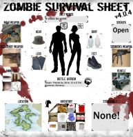 My Zombie Survival Sheet by oborotyenvpup