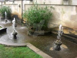Row of Fountains by PeriwinklePaisley