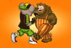 Chuck E Cheese vs Billy Bob by geogant