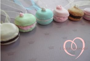 Macaron Necklaces by ilikeshiniesfakery