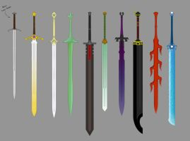 Great Swords By Ronin Ink Colored by TheAbyssalSymphony