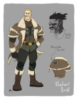 Injection character design- Vladimir Bosk by AndrewKwan
