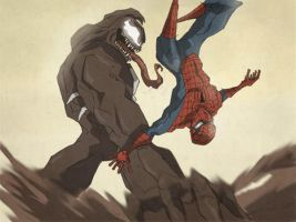 Web head vs Venom by Chrisgemini