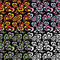 Free Hearts vector pattern by grebenru