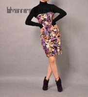 Purple Embroidered Tube Dress6 by yystudio