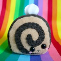 Chocolatey Cake Roll Plushie 2 by HezaChan
