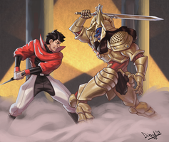 Geki vs Griffozer by HIIVolt-07