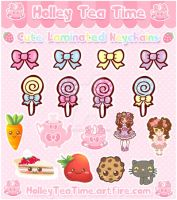 Kawaii Rainbow of Key-chains by miemie-chan3