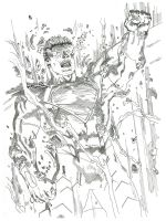 Earth 2 #18 Superman reveal by magnumpeanut