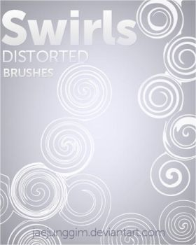 Distorted Swirls Brushes by enhancers