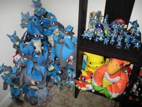Lucario Plushies! by doryphish333