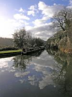 barges on the cannal by awjay