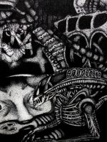Alien Black Ink Stipple by ZombieModels