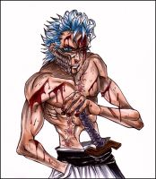 Grimmjow in Color ++ Bloody by MoonNeko