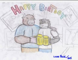 HAPPY BIRTHDAY BOB BUFALO by Lickan-Nicol