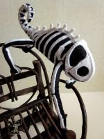 Skeleton chameleon 2 by quirkandbramble
