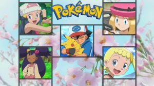 Ash and Friends Wallpaper 2 DX by ForgottenPearl
